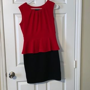 Size 8 red and black dress